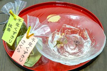千年くずきり(抹茶・さくら) 各300円